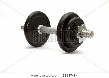 Dumbbell on a white background