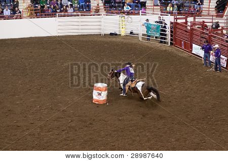 Barrel Racing At State Farm Show