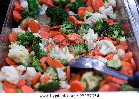 Mixed Vegetable stir fry in pan