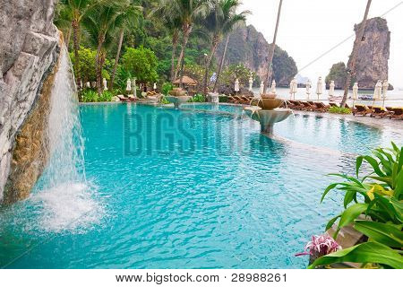 Swimming Pool On The Beach