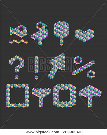 Dreieck Muster Nummern festlegen