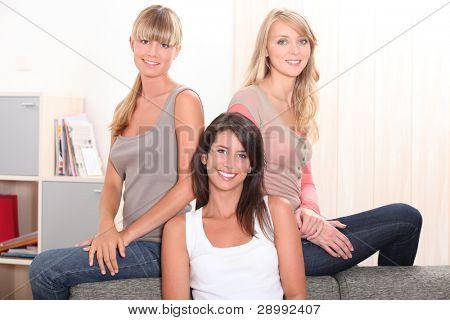 Three female housemates