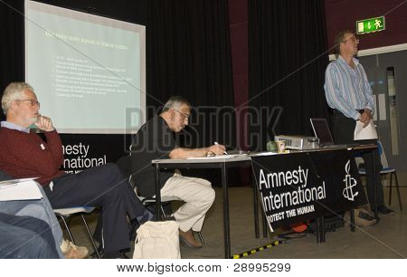 Micheal Axworthy Speaking At The Amnesty International South West Regional Conference