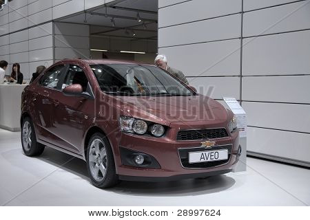 Brussels, Auto Motor Expo Chevrolet Aveo