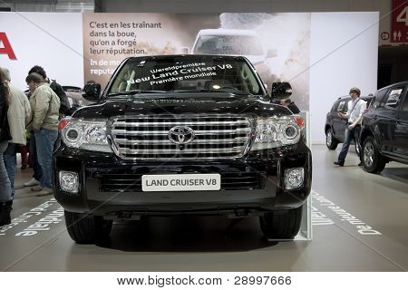 Bruselas, Auto Motor Expo Toyota Land Cruiser V8