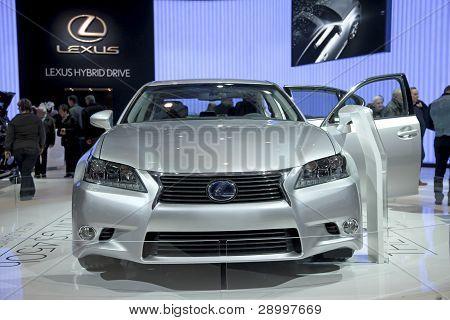 Brussels, Auto Motor Expo Lexus Hybrid Rx450H