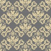 Classic Golden Seamless Vector Pattern. Damask Orient Ornament. Classic Vintage Background. Orient O poster