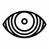 Concentrated Eye Icon. Outline Concentrated Eye Icon For Web Design Isolated On White Background poster