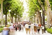 foto of street-walker  - Blurred crowd in the street - JPG