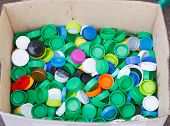 Bottle Cap, Made Of Polypropylene And Polyethylene Plastic Resin, Do Not Biodegrade. If Not Recycled poster