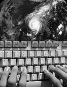stock photo of katrina  - Tracking a Hurricane - JPG