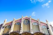 Valencia, Spain. Mercado Central Is A Famous Old Market Hall And Shopping Area poster