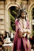 Christ statue on the streets in April catholic celebration.
