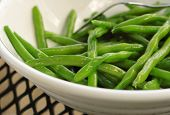 foto of green-beans  - Closeup of a bowl of sauteed Green Beans - JPG
