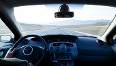 pic of speedo  - Inside car view at high speed - JPG