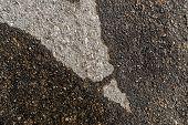 Wet Asphalt Road After The Rain. Asphalt Background. Background And Texture. Wet Asphalt Texture. We poster