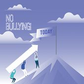 Word Writing Text No Bullying. Business Concept For Forbidden Abuse Harassment Aggression Assault. poster