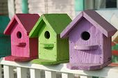 Colorful Birdhouses