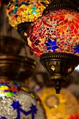 Typical Lamps Of Turkey. Colorful Antique Lamps. Lamps Of Ramadan poster