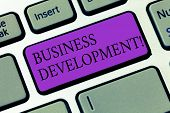 Conceptual Hand Writing Showing Business Development. Business Photo Showcasing Develop And Implemen poster