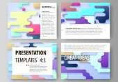 Business Templates For Presentation Slides. Abstract Vector Design Layouts. Bright Color Lines And D poster
