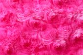 Texture Of Fuzzy Pink Fabric As Background, Closeup poster