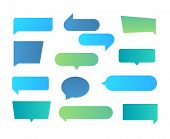 Thought Shapes. Text Chat Speech Rectangular Bubbles, Conversation Talk Shape, Dialog Flat Shape. Ve poster