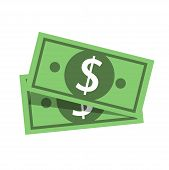 Vector Flat Design Dollar Money Cash Icon, Cash Register, Money Payment, Dollar Sign, Currency poster