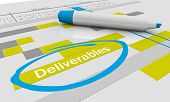 Deliverables Project To Dos Responsibilities Tracking Chart 3d Illustration poster