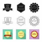 Vector Design Of Emblem And Badge Icon. Set Of Emblem And Sticker Vector Icon For Stock. poster