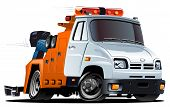 picture of towing  - Vector cartoon tow truck - JPG