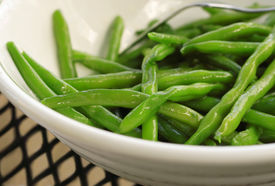 foto of green bean  - Closeup of a bowl of sauteed Green Beans - JPG