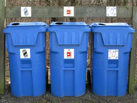 foto of stewardship  - Placing large bins for cans plastic - JPG