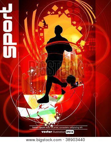 Sport poster. Marathon runner