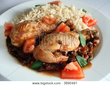 Plate Of Cuban Chicken Stew