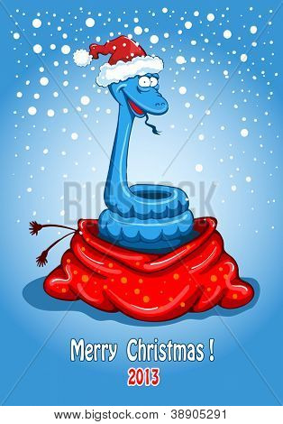 Christmas snake. Creative design by 2013.