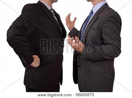 Konflikt im Büro Business executive Streit mit seinem Chef Tagung