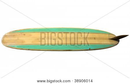 Retro 60's Surfboard isolated on white