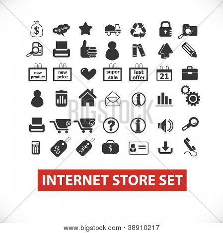 internet store set icons, vector