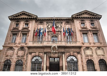 Town hall of Marseille, France. French Hotel de Ville