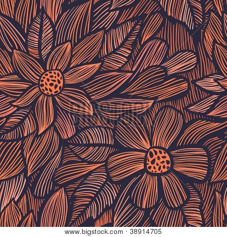 Seamless texture with flowers. Seamless pattern can be used for wallpaper, pattern fills, web page background, surface textures. Gorgeous seamless floral background