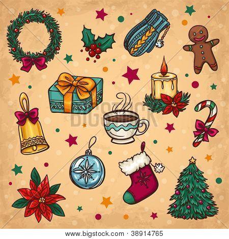 Weihnachten Dekoration und Winter Dinge