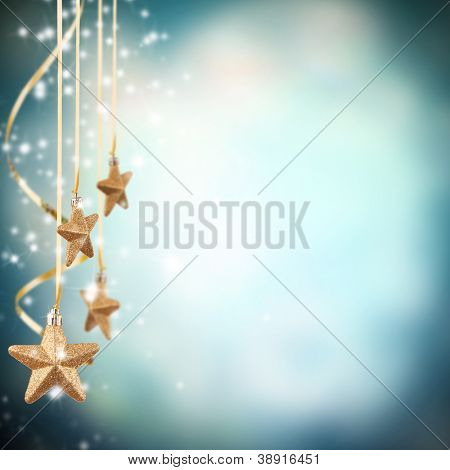 Christmas theme with golden stars