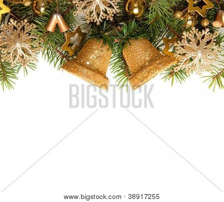 Christmas frame for greeting card