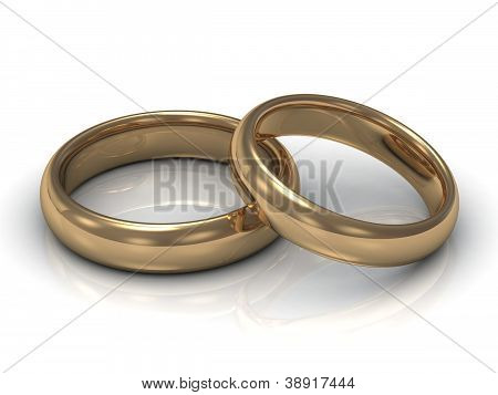 Wedding Rings: One Ring Lies On The Other
