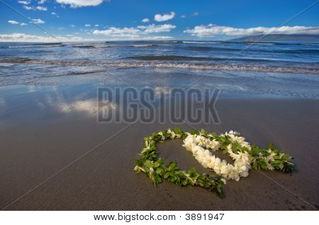 Romantic Leis On A Beach