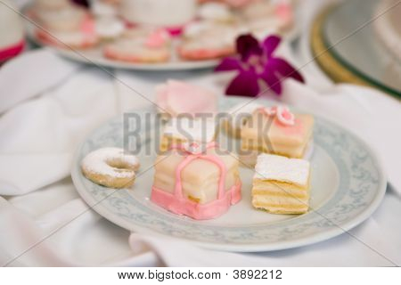 Cream Cakes On A Plate