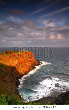 Lighthouse At Kilauea Bay