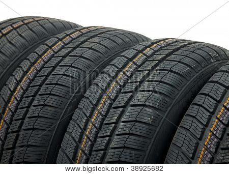 A set of winter tyres