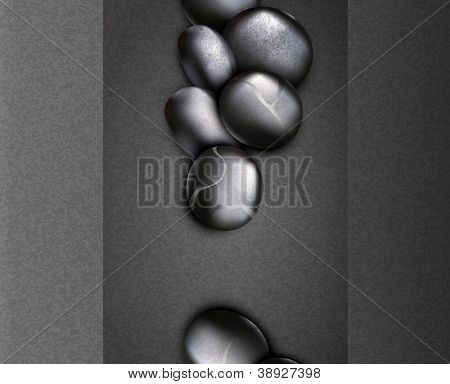 strict, business background with black stones